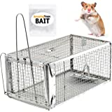 AmazingTraps Medium Humane Animal Trap w/Starter Bait - Catches Rats, Mice, Squirrels, Opossums, Moles, Weasels, Gophers, and Other Small Animals