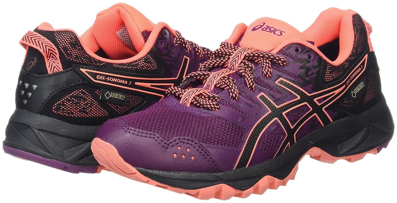 Asics Damen 3 Gel-Sonoma 3 Damen G-Tx Laufschuhe Violett (Dark Purple/schwarz/Flash Coral) ba7dfe