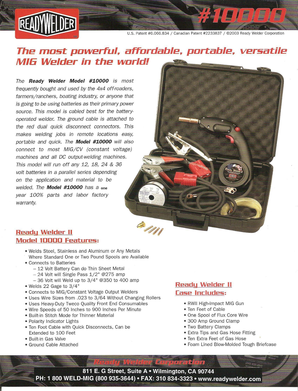 Ready Welder 10000 - RWII Model #10000 Battery Operated MIG Gun
