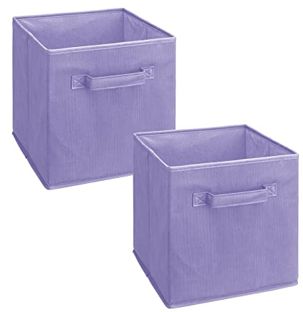 Great ClosetMaid 3878 Cubeicals Fabric Drawer, Light Purple, 2 Pack