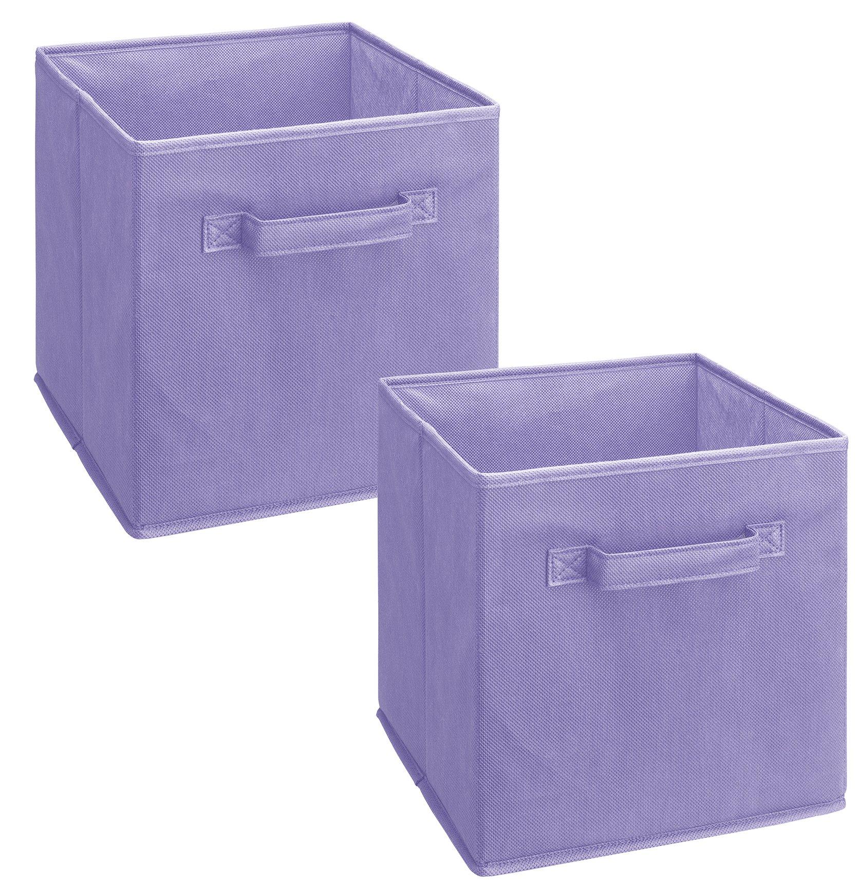 ClosetMaid 3878 Cubeicals Fabric Drawer, Light Purple, 2-Pack
