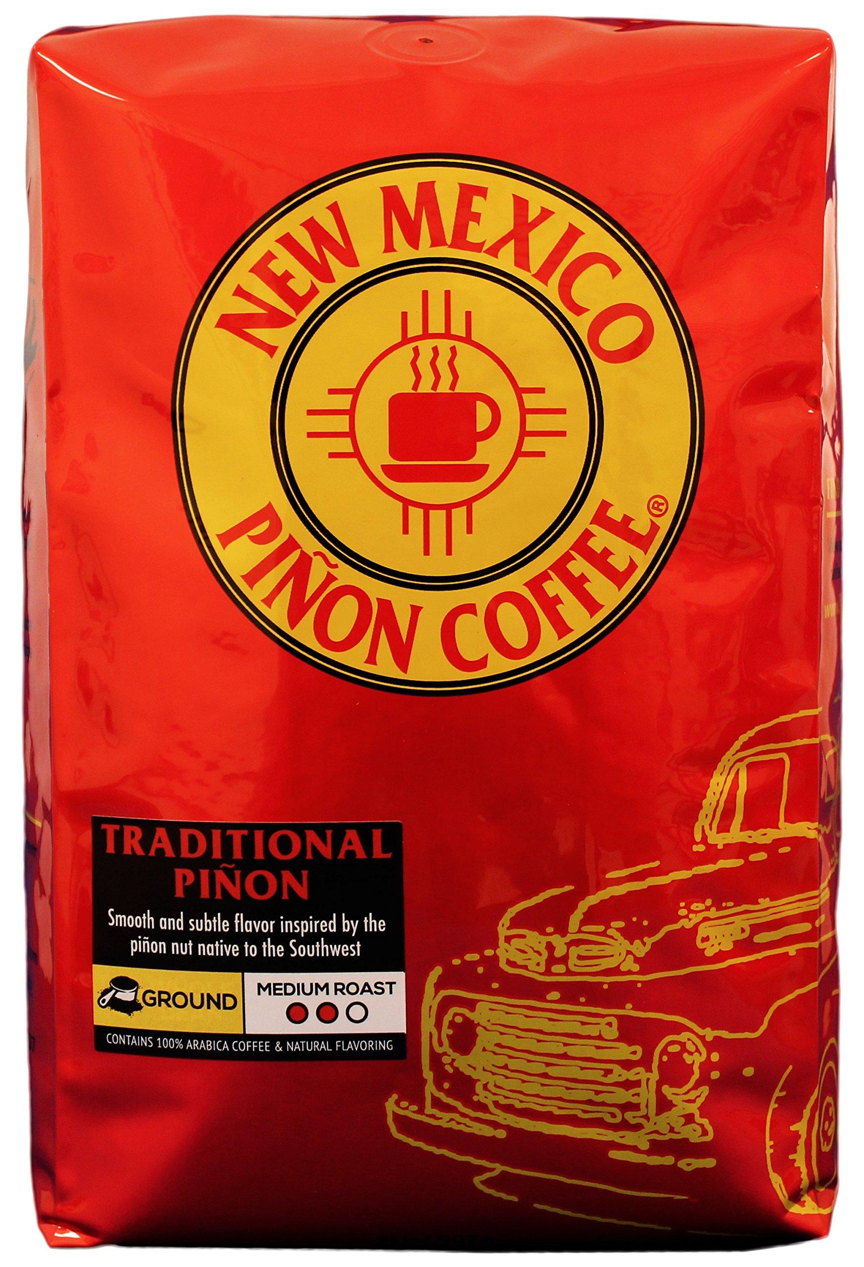 New Mexico Piñon Coffee Naturally Flavored Coffee (Traditional Piñon Ground, 2 pound)