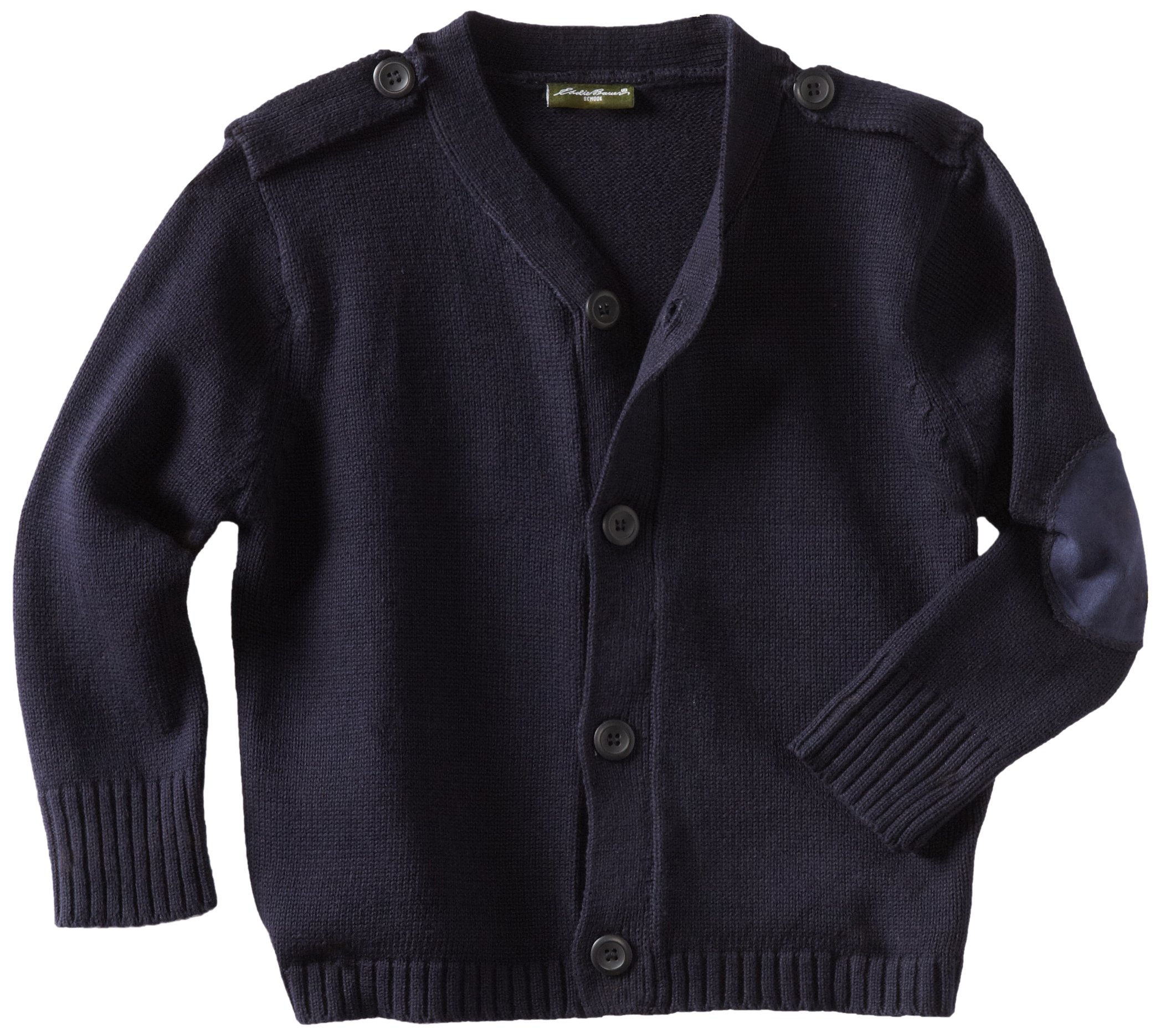 Eddie Bauer Big Boys' Sweater (More Styles Available), Basic Navy, 5/6