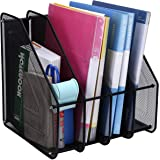 SEPAL 4 Compartment Vertical Sorter File Desk Organiser Book Organizer Document Holder Metal Tray for Office and Home 32 x 29 x 32 cm