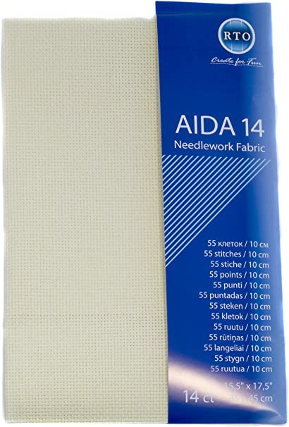 RTO Aida 14 Count Red 39cm x 45cm 4x17x1 cm