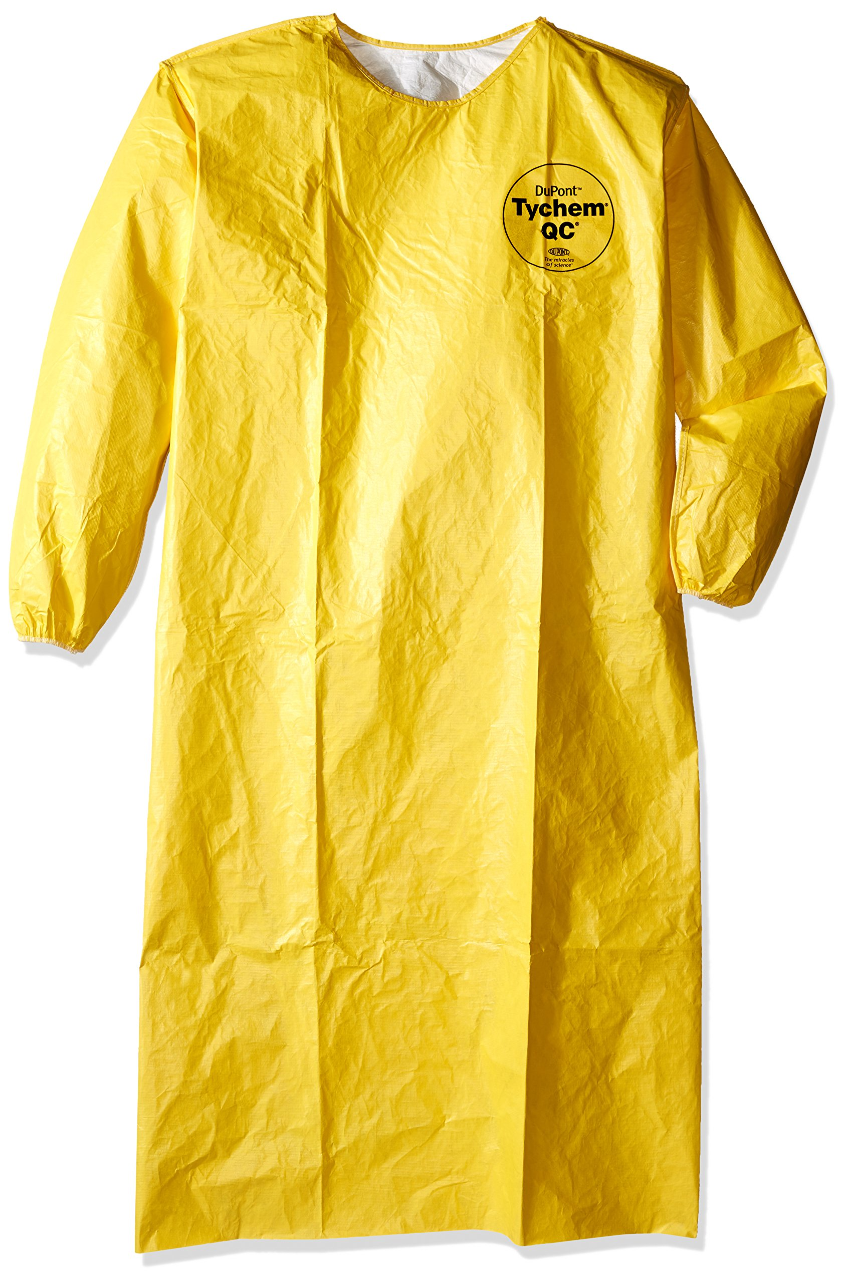 Dupont QC278BYL00001200 QC Sleeved Aprons, Elastic Wrists, 52'' Long, Yellow (Pack of 12)