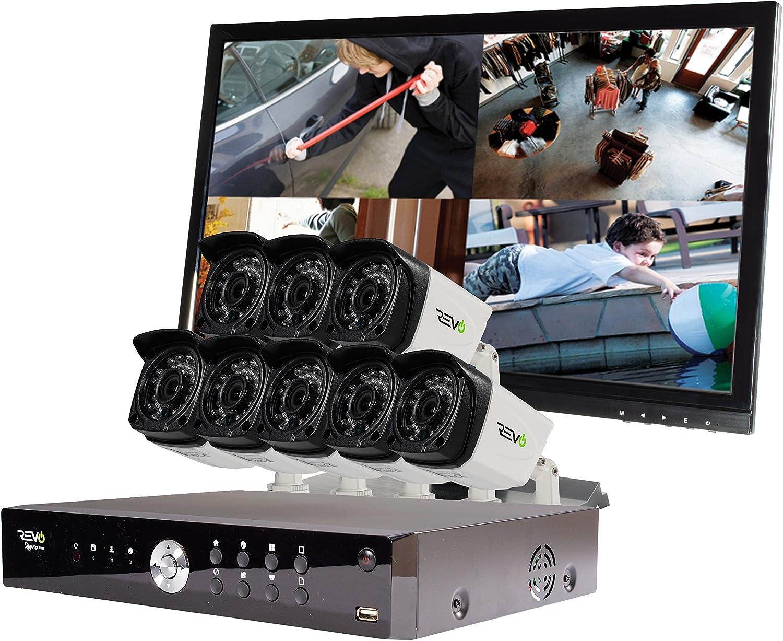 Amazon Com Revo America Aero Hd 1080p 16 Ch Video Security System With 8 Indoor Outdoor Cameras White Black Ra161b8gm22 2t Camera Photo