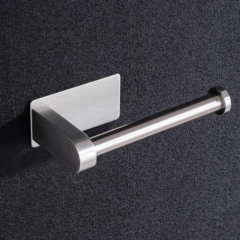 Kojox UPHZ01N Toilettenpapierhalter Klorollenhalterer WC Rollenhalter Klopapierhalt Edelstahl SUS304 Toiletten Papierhalter WC Papier Halterung Wandmontage Geb/ürstet