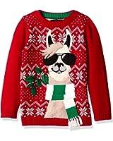 Blizzard Bay Boys' Llama with Sunglasses Xmas Sweater