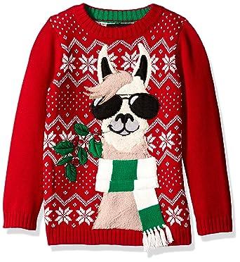 81a51d059d0bb9 Amazon.com  Blizzard Bay Boys  Llama with Sunglasses Xmas Sweater  Clothing