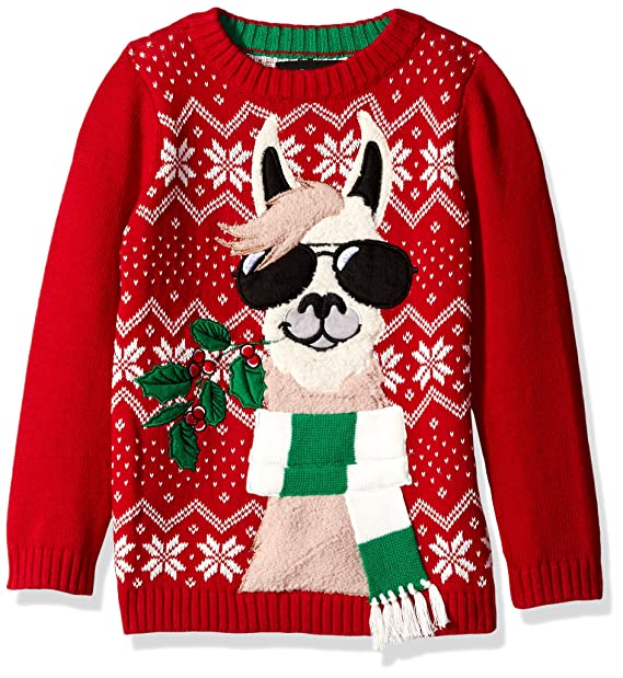 Llama Christmas Sweater.Blizzard Bay Boys Llama With Sunglasses Xmas Sweater