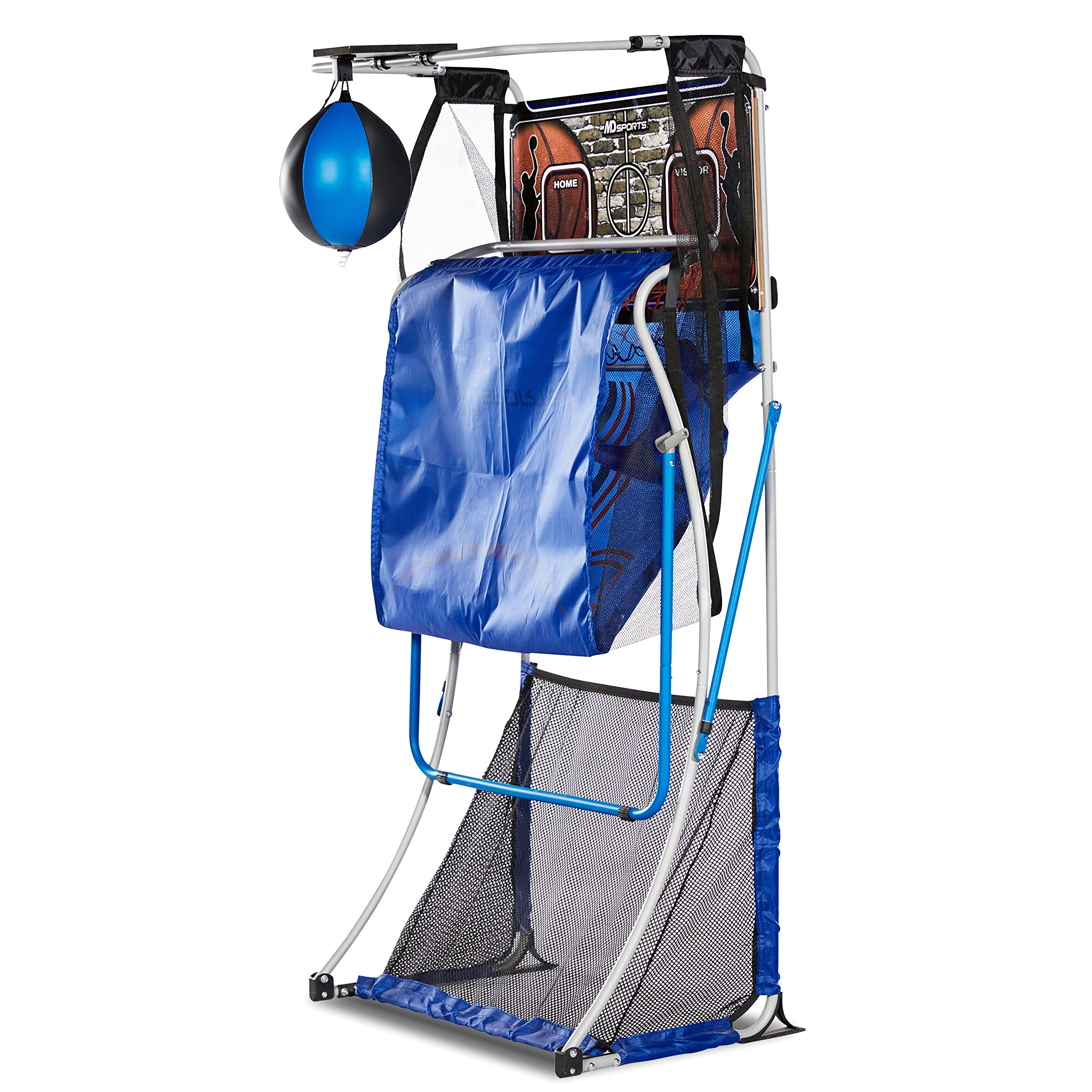 MD Sports BBG019_067M 4 in 1 Junior Basketball Game (Basketball, Soccer, Boxing & KNEE Hockey), Blue by MD Sports (Image #10)