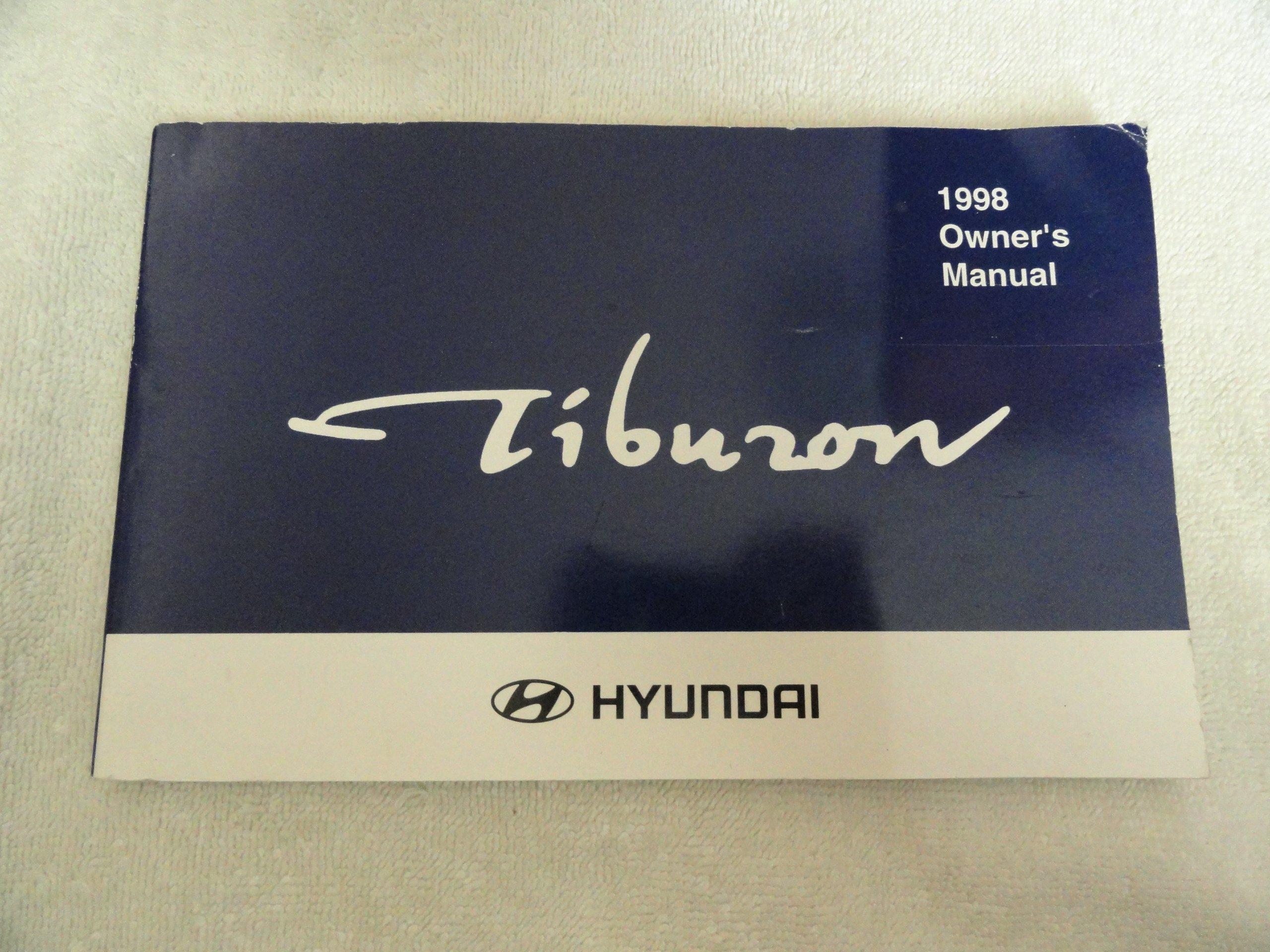 1998 hyundai tiburon owners manual hyundai amazon com books rh amazon com 2004 Hyundai Tiburon 2004 Hyundai Tiburon