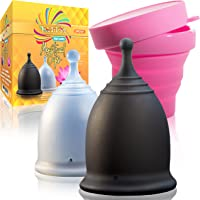 Talisi Reusable 2 Menstrual Cups - Period Cup Set for Women with Collapsible Sterilization Cup and Travel Bag - Feminine…