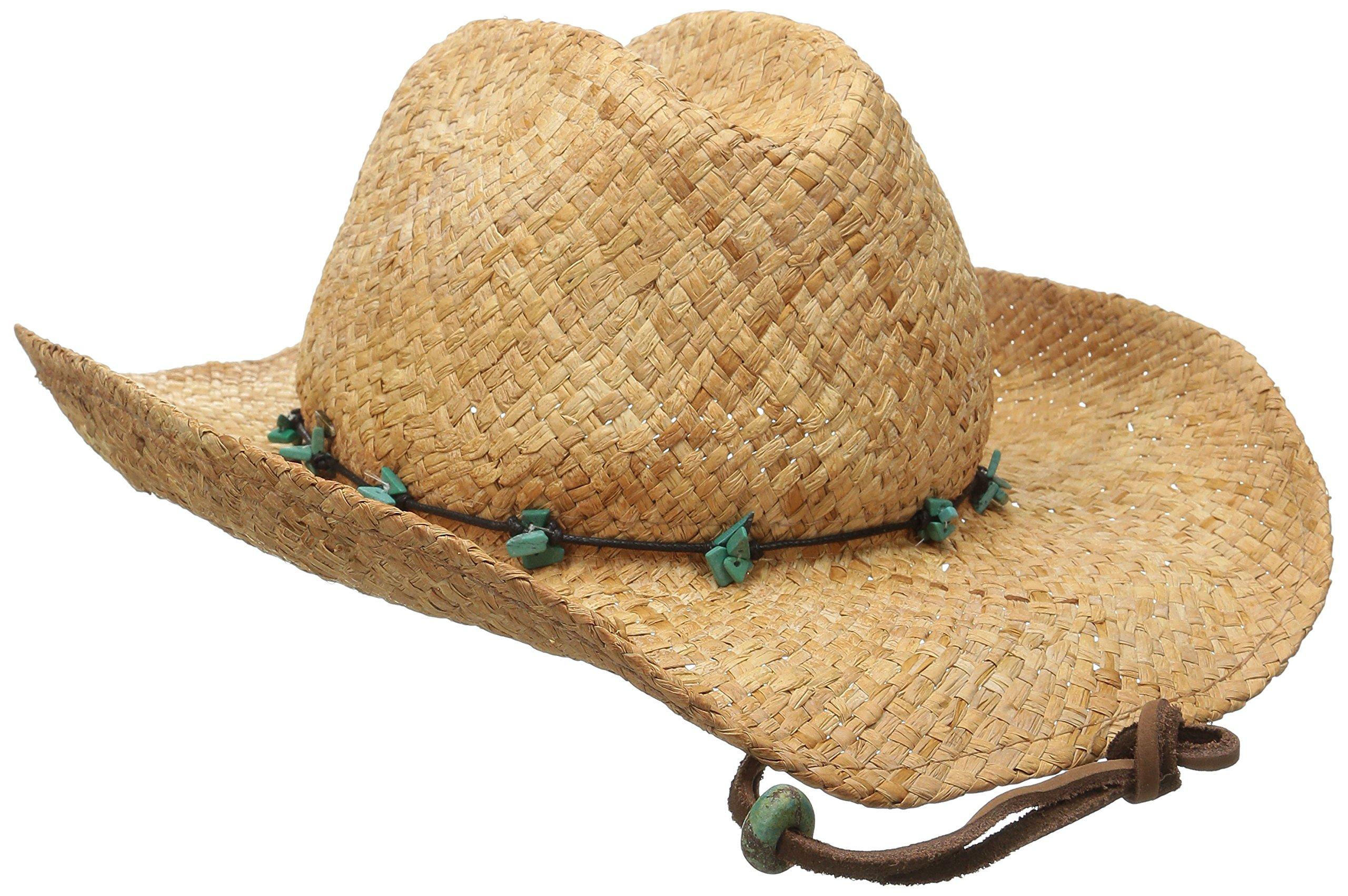 Scala Women's Straw Cowboy Hat, Tea, One Size by SCALA (Image #2)