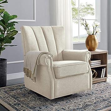 Miraculous Classic Brands David John Popstitch Upholstered Glider Swivel Rocker Chair Shell Beatyapartments Chair Design Images Beatyapartmentscom
