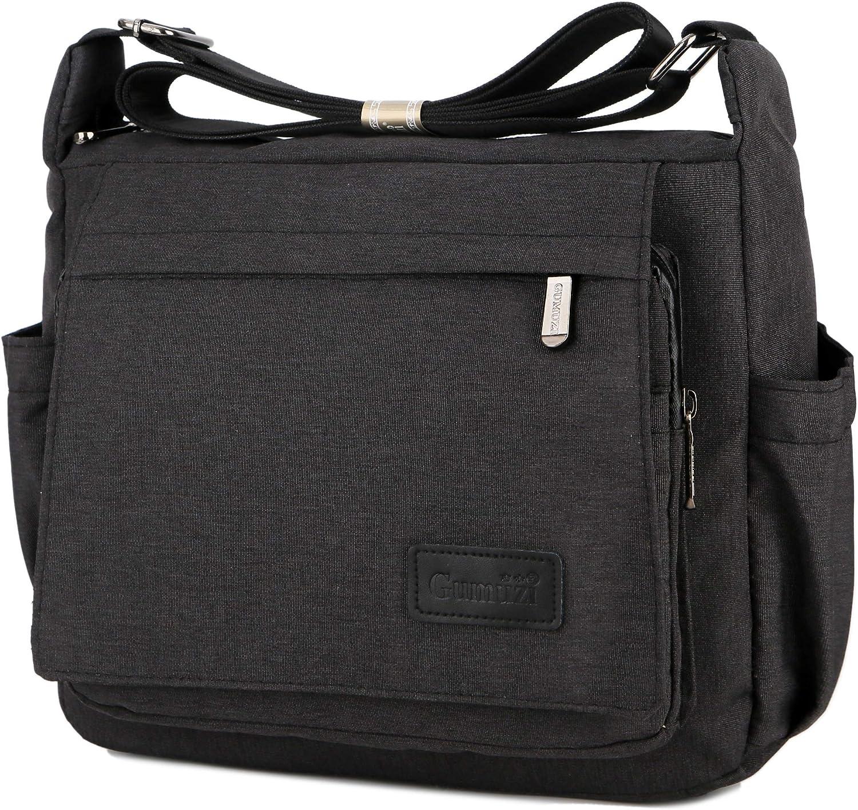 Wxnow Multi Pocket Shoulder Bag Crossbody Bag for Women Travel Purse Work Bag