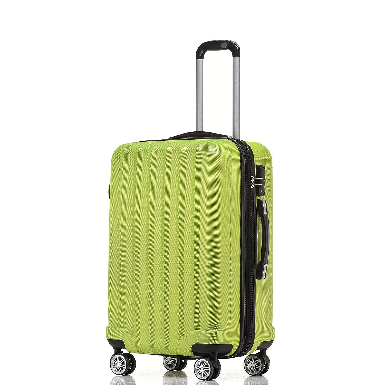 Beibye TSA – Candado 2080 ruedas Gemelas 3 maletas rígidas Verde verde Set