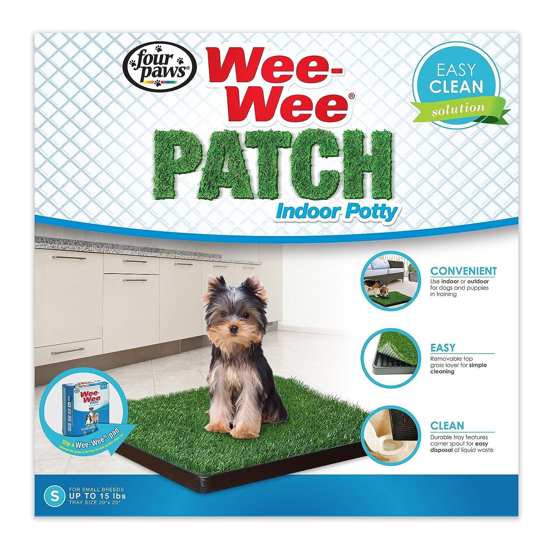 Four Paws Quatre Pattes Wee-Wee Patch Petit Pot d'intérieur Chien Housebreaking Plateau 100203053