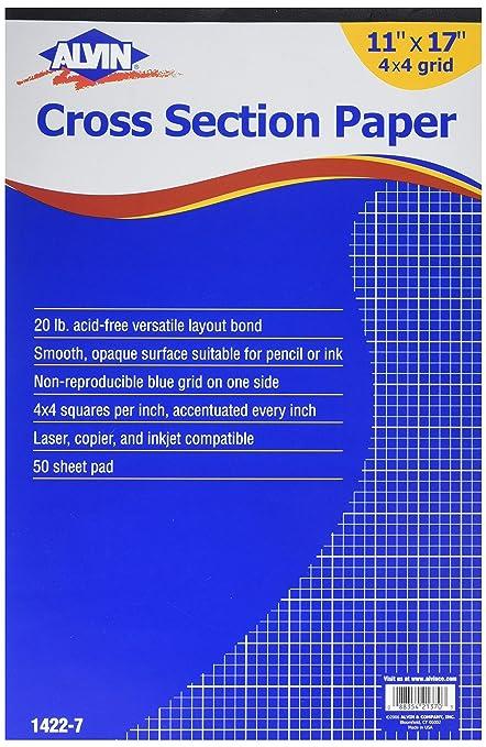 amazon com alvin paper graph paper pad 1422 7 graph paper