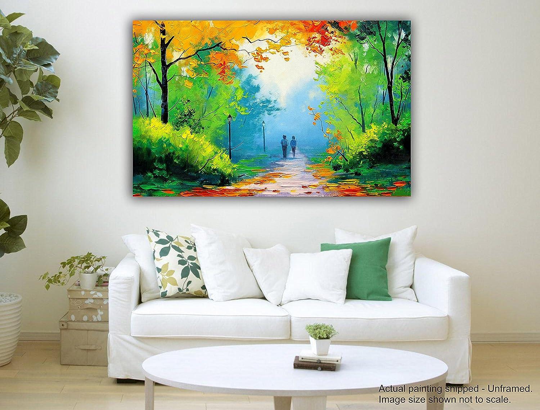Pintura de la lona de Tamatina - colorida salida del sol colorida - - arte de la lona de la naturaleza a2c127
