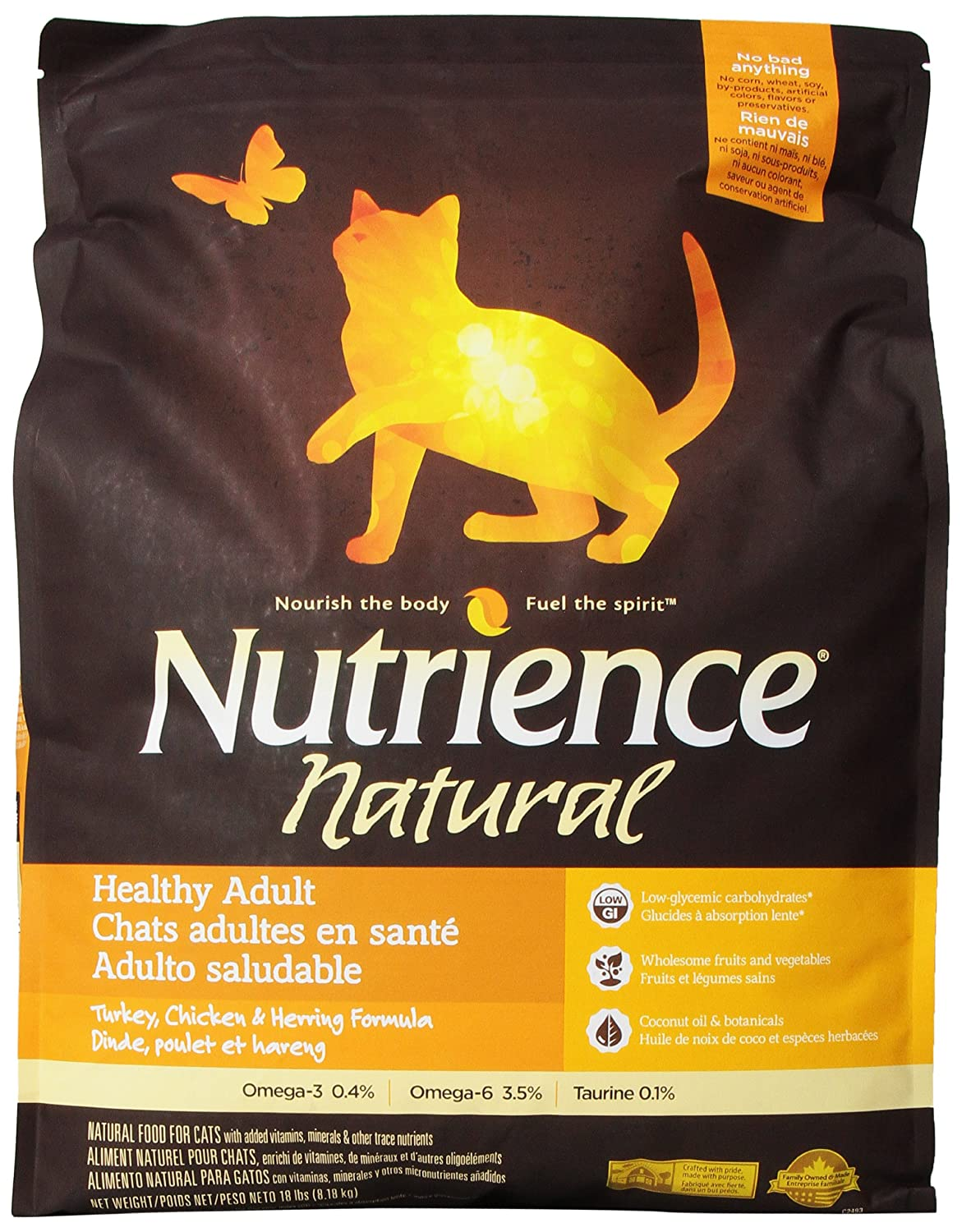 Amazon.com : Nutrience Natural Healthy Adult Cat Food, 18 ...