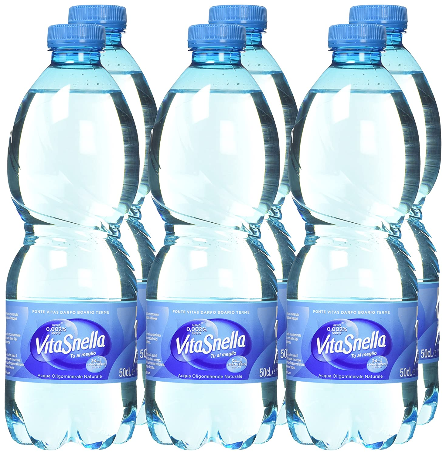 Amazon.com : Acqua Vitasnella: Natural Spring Water 16.9 Fluid Ounce (500ml) Bottles (Pack of 6) [ Italian Import ] : Grocery & Gourmet Food