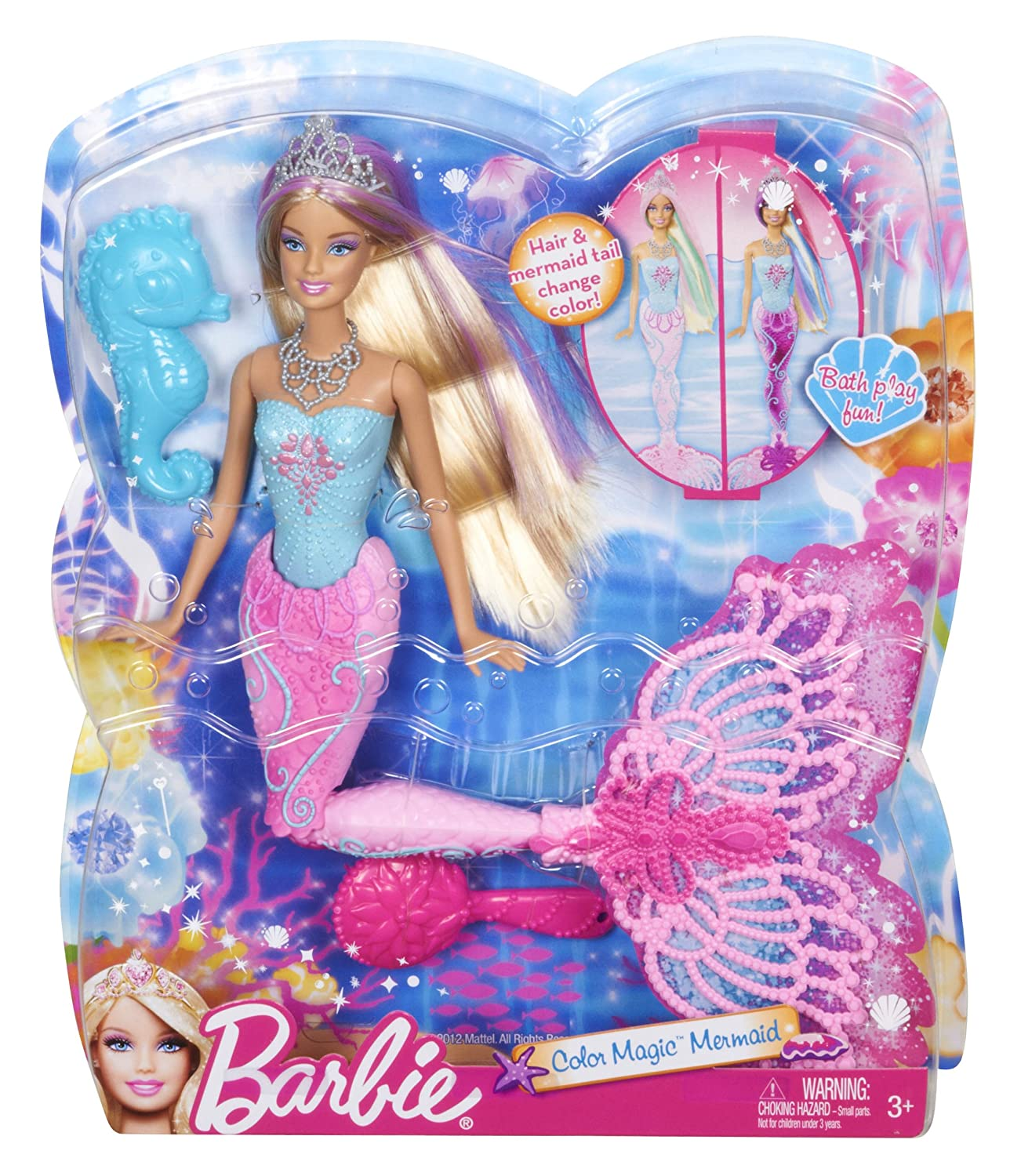 Amazon.es: Barbie - Sirena transformación mágica (Mattel X9178 ...