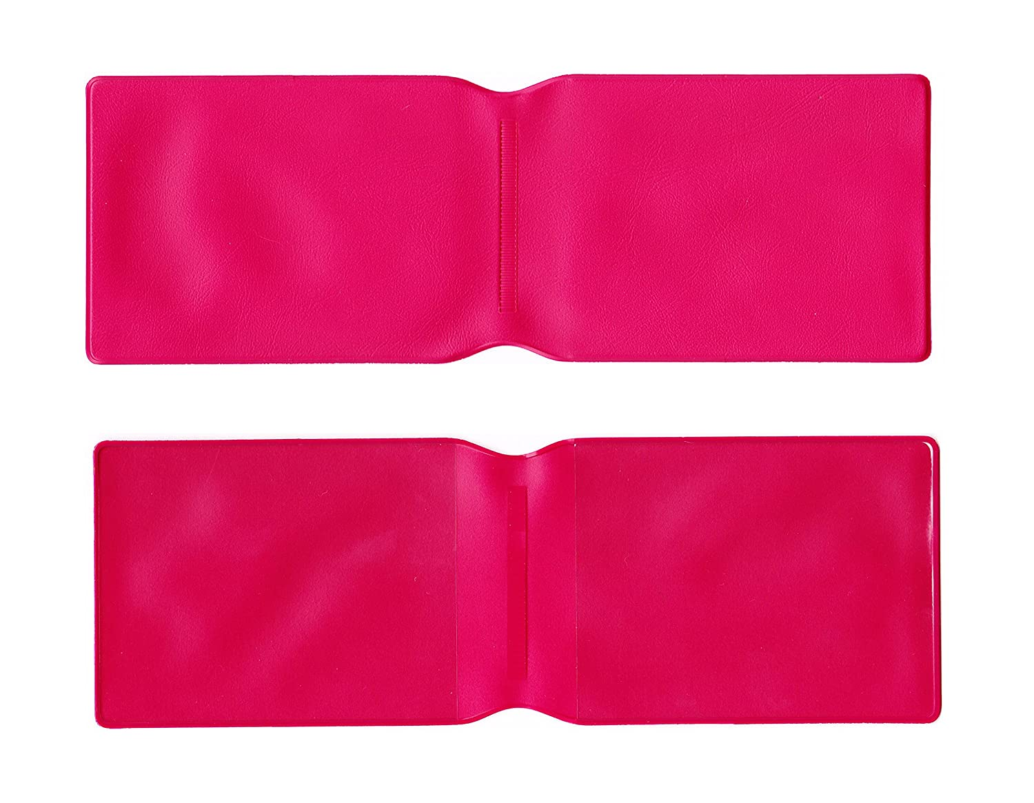 1 x Dark Pink Plastic Oyster Card Wallet / Credit Card Holder / ID Card Wallet / Business Card Holder / Travel Pass Cover - MADE IN THE UK