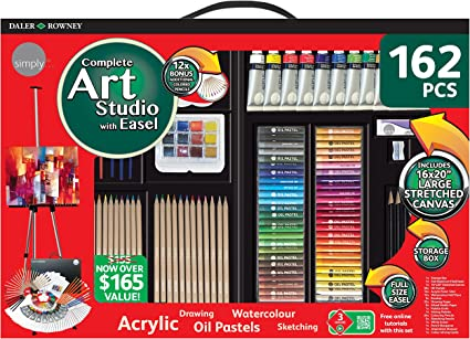 Daler Rowney 162 Piece Art Studio With Easel
