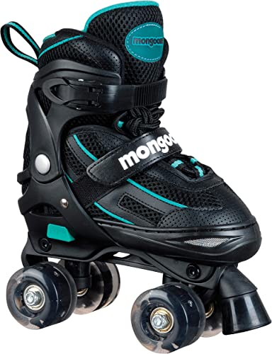 Mongoose Roller Skates for Girls Adjustable with Light Up Wheels Beginner Inline Skates Fun Illuminating for Kids Boys and Girls