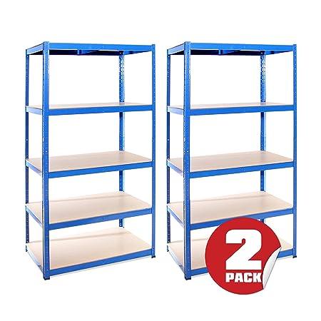 Garage Shelving Units: 180cm X 90cm X 60cm | Heavy Duty Racking Shelves For  Storage