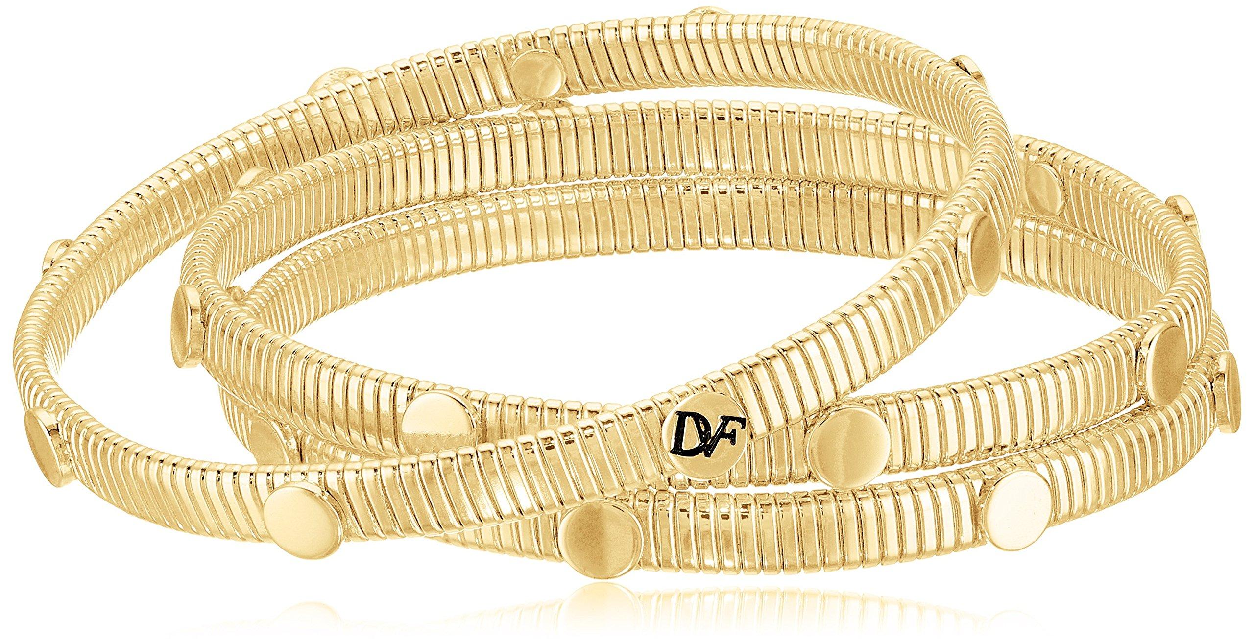 Diane von Furstenberg ''Summer Disco'' Circle Snake Chain Gold Bangle Bracelet