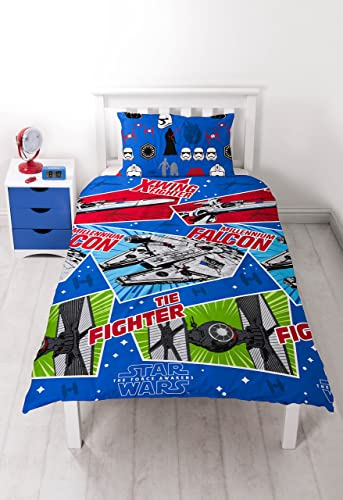 Star Wars character world Episode 7 Craft Single Duvet Set, Multi-Colour