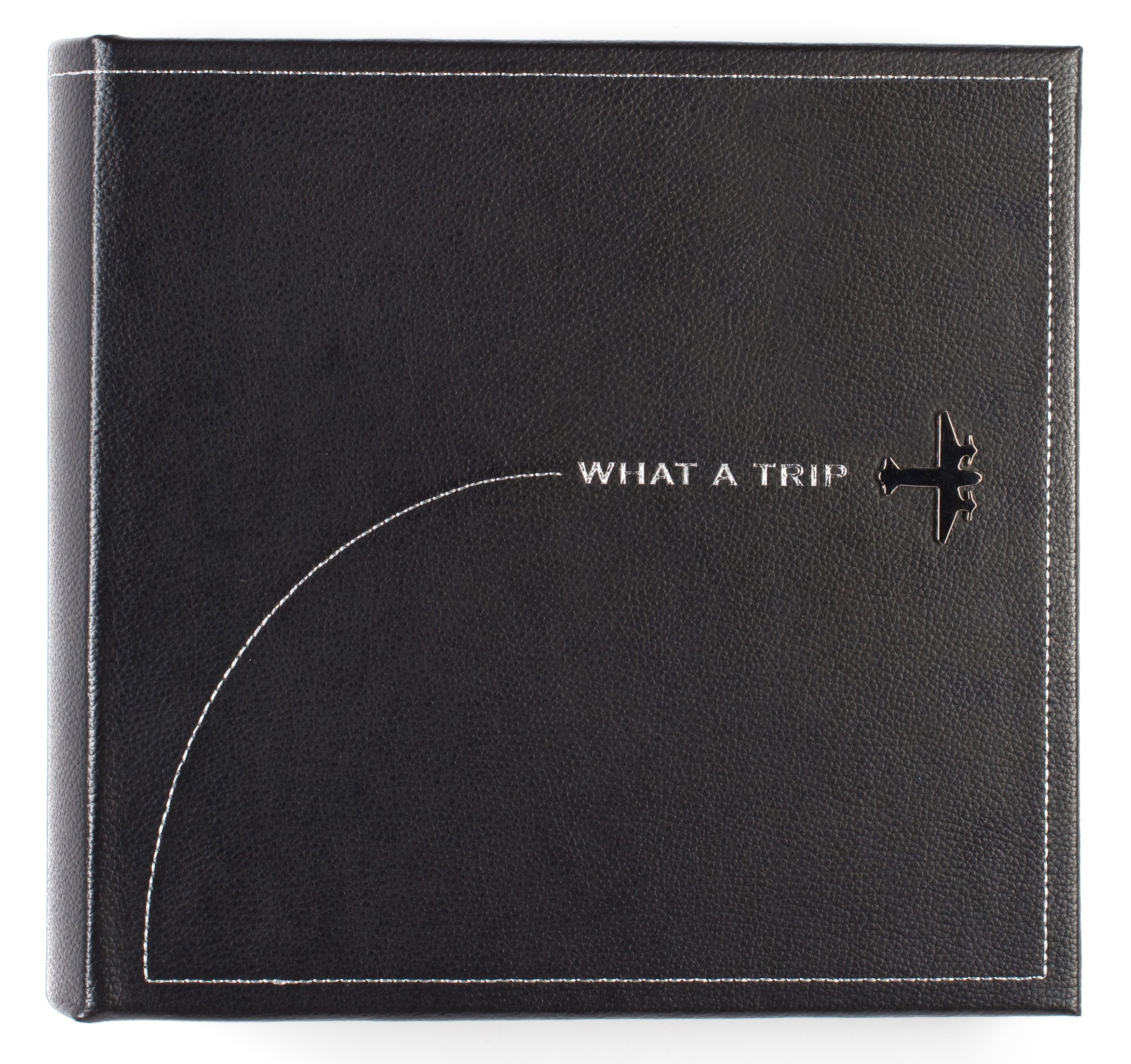 Pinnacle Frames and Accents What A Trip Embossed Faux Leather Photo Album by Pinnacle Frames and Accents