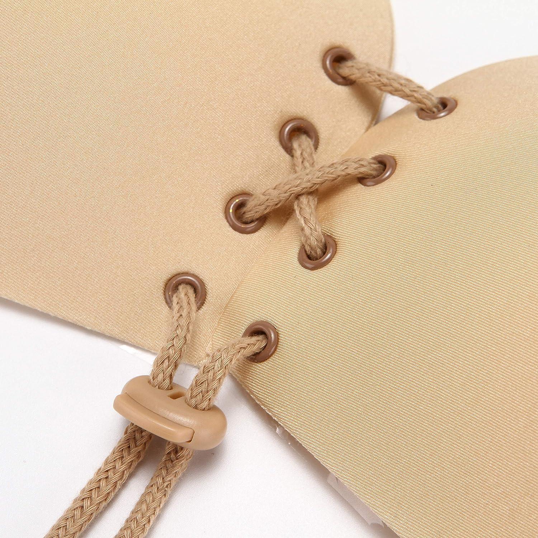 sans Bretelles Folora Soutien-Gorge adh/ésif Invisible en Silicone /à la Mode pour Une Silhouette Parfaite pour Les Femmes sans Dossier