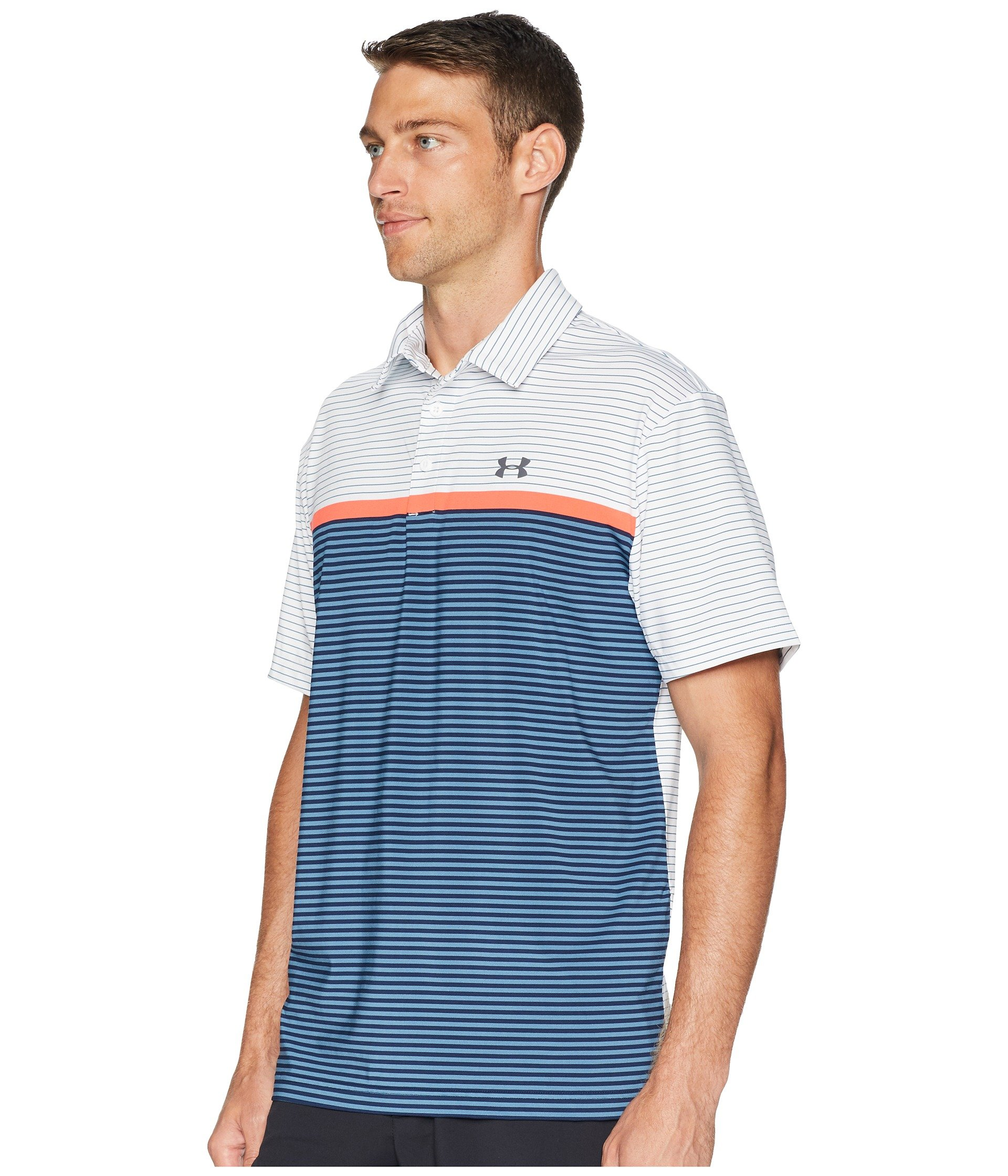Under Armour Men's Playoff Polo, White (124)/Rhino Gray, X-Small by Under Armour (Image #3)