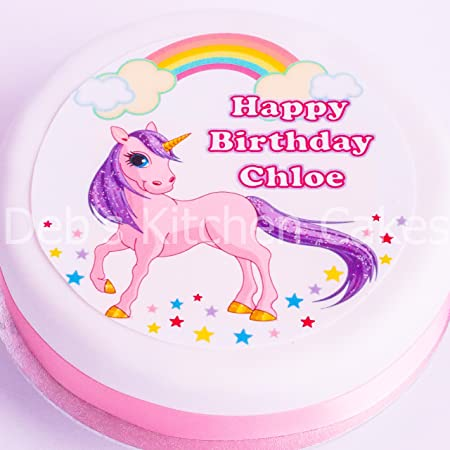 Personalised Unicorn Cake Topper