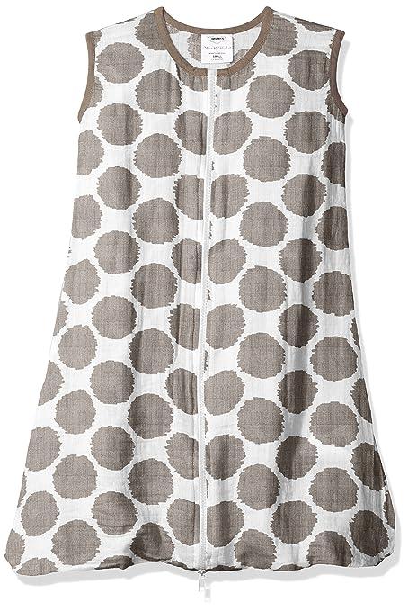 bacati mantas de muselina, diseño de puntos portátil saco de dormir, gris, pequeño