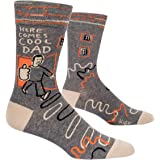 Blue Q Men's Funny Crew Socks, Here Comes Cool Dad.