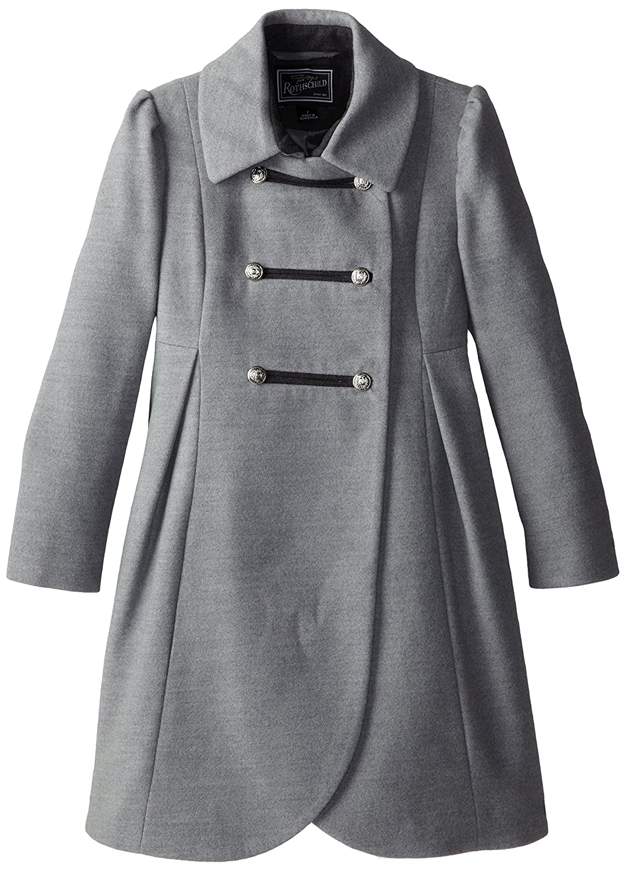 6e9ed6e2e437 Amazon.com  Rothschild Big Girls  Faux Wool Petal Front Military Coat   Clothing