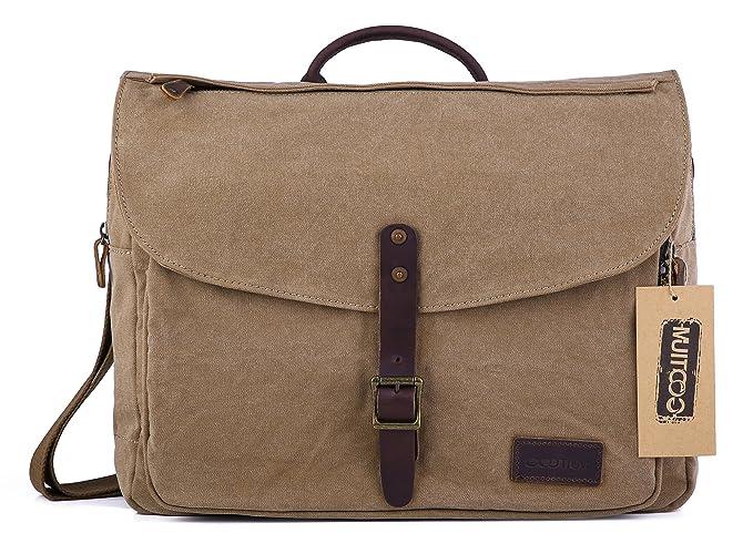 56211cf4e1 Gootium Canvas Messenger Bag - British Style Shoulder Bag