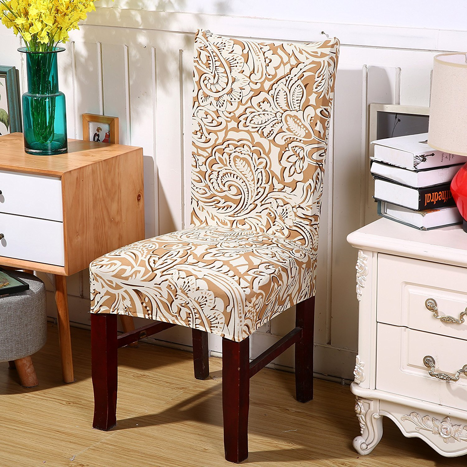 Deisy Dee Stretch Chair Cover Removable Washable for Hotel Dining Room Ceremony Chair Slipcovers Pack of 6 (D) by Deisy Dee (Image #4)