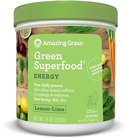 Amazing Grass - Súper Alimento Verde (Lima Limon, 30 Sirva ...