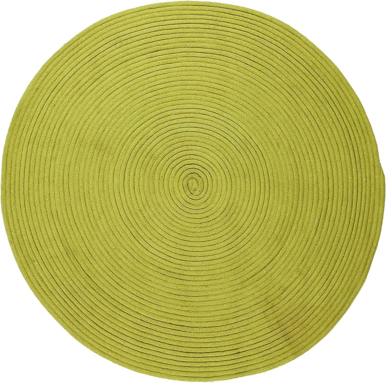 Color Gris algod/ón, 120 x 120 x 1,5 cm Alfombra Thedecofactory 121814 Anis D120