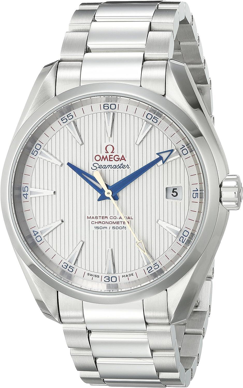 Omega Men s 23110422102004 Seamaster150 Analog Display Swiss Automatic Silver Watch