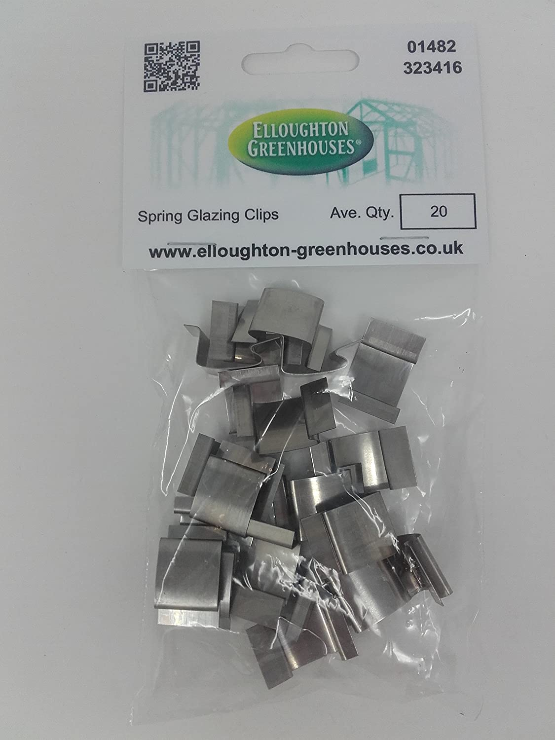 20 Stainless Steel Spring Greenhouse Glazing Clips Genuine Elite Greenhouses parts Elloughton Greenhouses® 20 G Clips