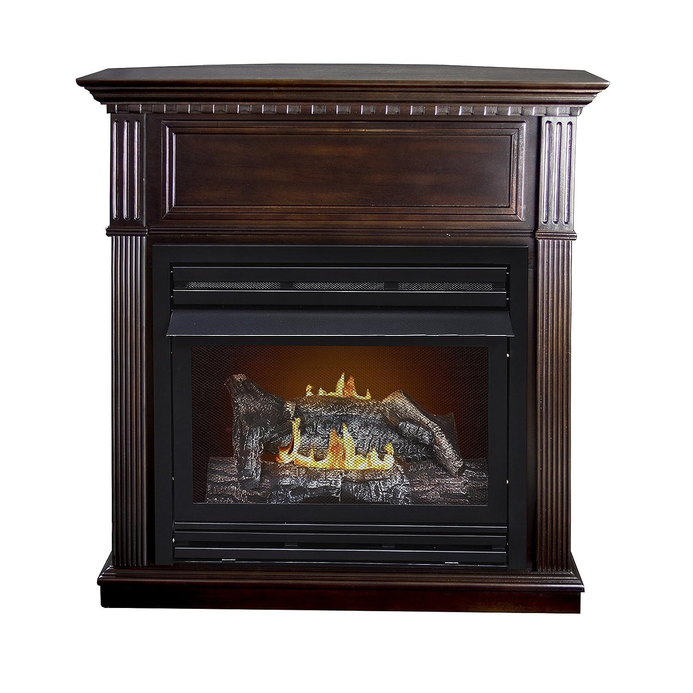 trends inserts u surround popular cream white ventless accessories astonishing of stone gas image corner and fireplace
