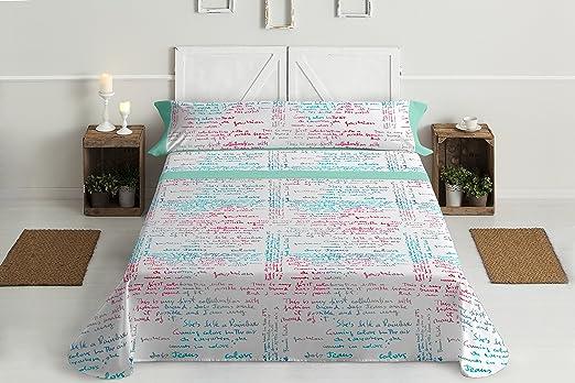 Lois letras juego de sábanas 4 piezas, 50% algodo 50% poliester ...
