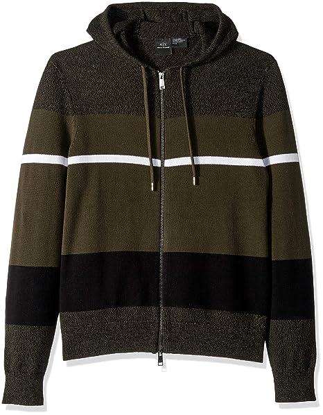 e28f028f4 Amazon.com: A|X Armani Exchange Men's Static Stripe Zip Cardigan ...